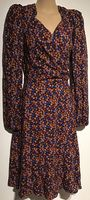 FLORAL WRAP CHEST KNEE LENGTH DRESS BNWT SIZE 8-10